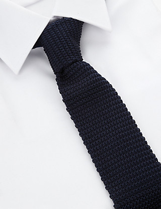 Pure Silk Knitted Tie Clothing