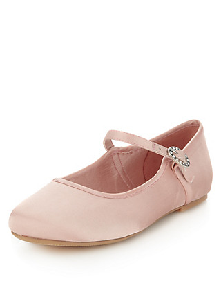 Bridesmaid Almond Toe Ballet Pumps (Older Girls) Clothing