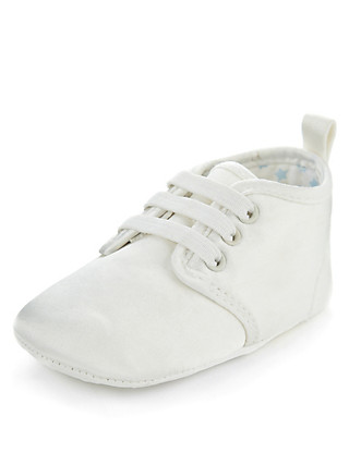 Lace Up Brogue Christening Pram Shoes Clothing