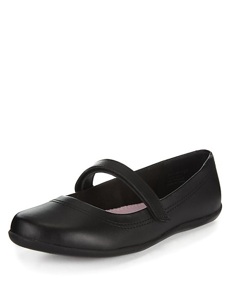 Wide Fit Coated Leather Shoes (Older Girls)