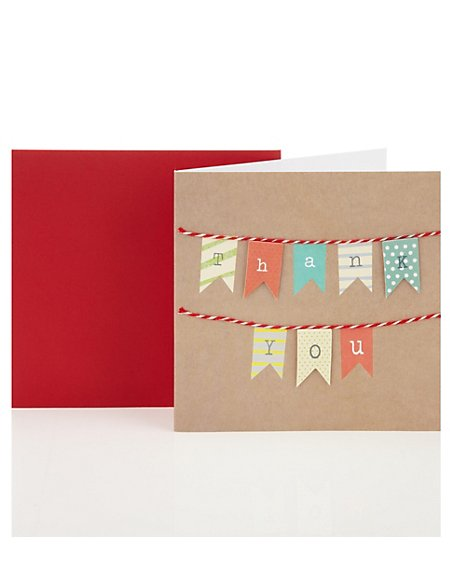 Thank You Bunting Greetings Card