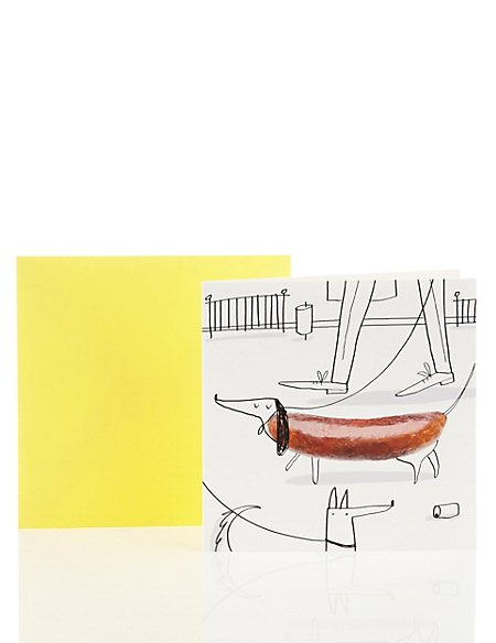 Fun Sausage Dog Blank Card
