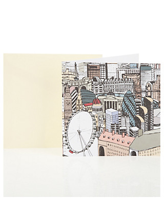Graphic London Blank Greetings Card Home