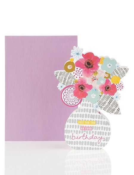 Classic Floral Hanging Card