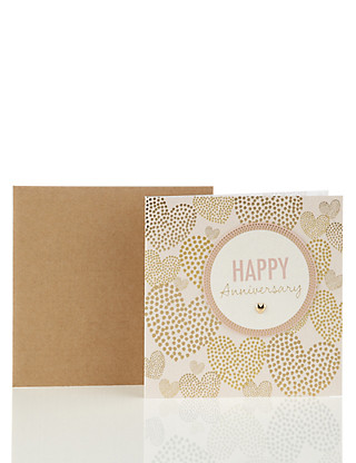 Luxury Hearts Anniversary Card Home