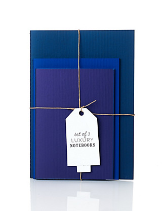 Set of 3 Luxury Blue Notebooks Home