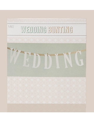 Organised Bride Collection Wedding Bunting Home