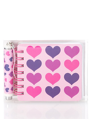 Heart Print Notebook & Pen Set Home