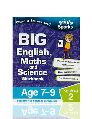 Bright Sparks Key Stage 2 Big English, Maths & Science Workbook Home