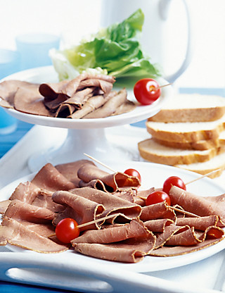 Rare Roast Beef & Aberdeen Angus Platter (16 slices) Food