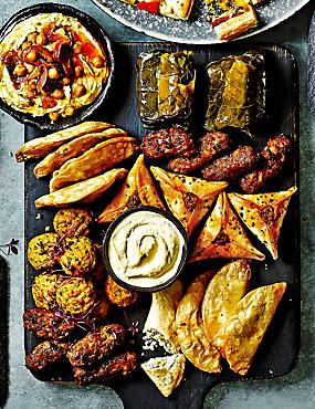 Mediterranean-Style Snacking Selection (34 Pieces)