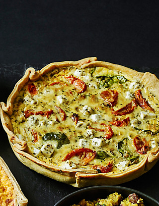 Handcrafted Roasted Tomato, Feta & Spinach Quiche Food