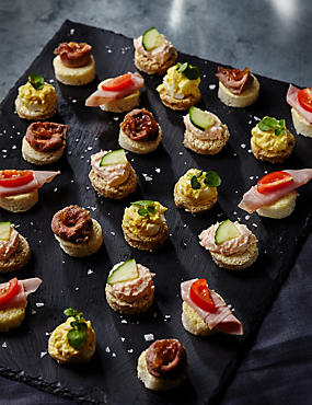 Party food platters nibbles canapes finger food m s for Wedding canape ideas