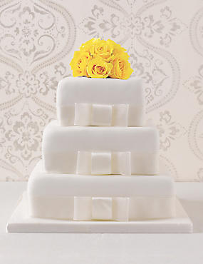 Elegant White Wedding Cake 3 Tier Assorted Cake with Lemon (Pre-Order: Available from 23rd February 2017)