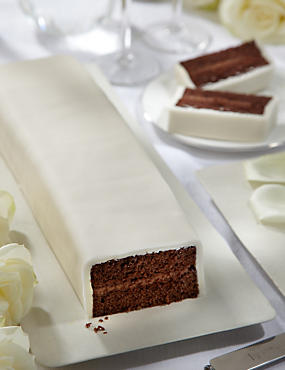 Wedding Cutting Bar Cake - Chocolate with Ivory Icing