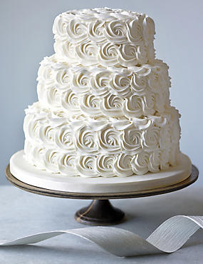 Rose Sponge Wedding Cake
