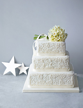 Lace Sponge Wedding Cake (Available to order until 31st January 2017) Cakes