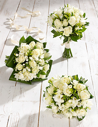 White Rose & Freesia Wedding Flowers - Collection 1 Food