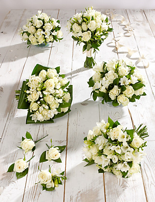 White Rose & Freesia Wedding Flowers - Collection 3 Food