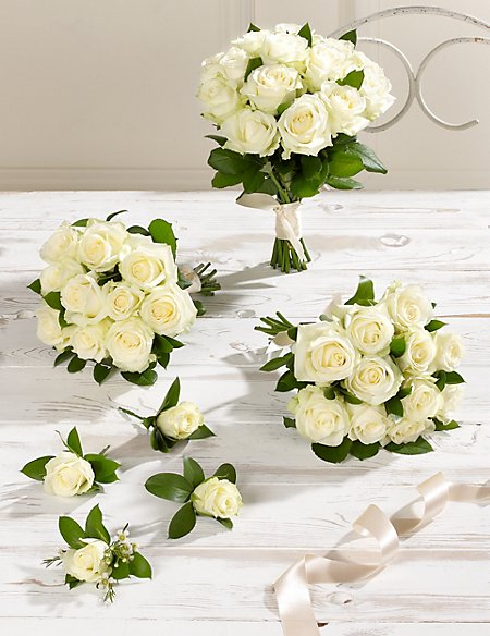 Creamy-white Luxury Rose Wedding Flowers - Collection 2