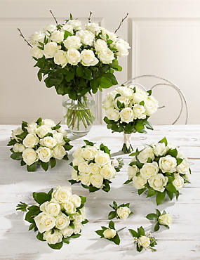 Creamy-white Luxury Rose Wedding Flowers - Collection 4