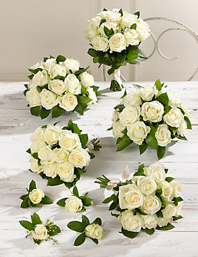 Creamy-white Luxury Rose Wedding Flowers - Collection 3