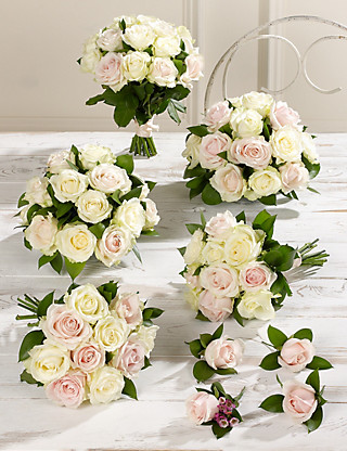 Pink & White Luxury Rose Wedding Flowers - Collection 3 Food