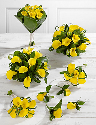 Yellow Calla Lily Wedding Flowers - Collection 3 Flowers