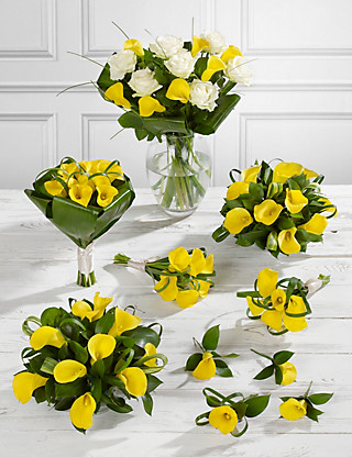 Yellow Calla Lily Wedding Flowers - Collection 4 Flowers