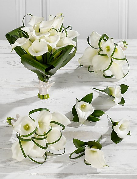 White Calla Lily Wedding Flowers Collection 2 M Amp S
