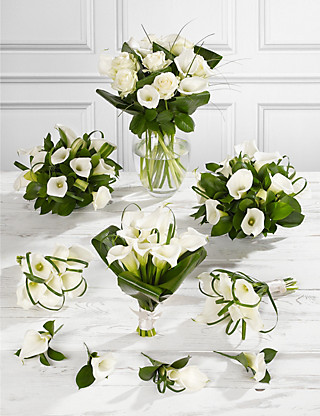 White Calla Lily Wedding Flowers - Collection 4 Flowers