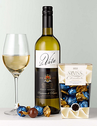 White Wine & Swiss Chocolates Hampers