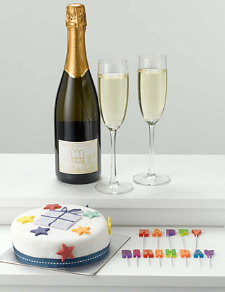 Birthday Cake, Candles & Prosecco Hampers