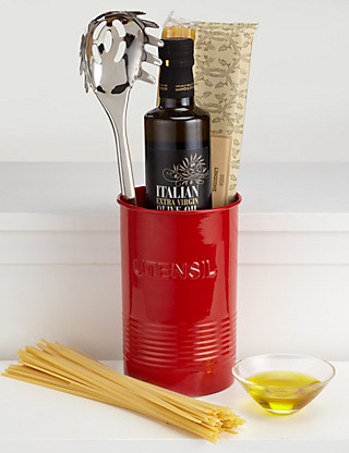 Italian Utensil Tin - Red Hampers