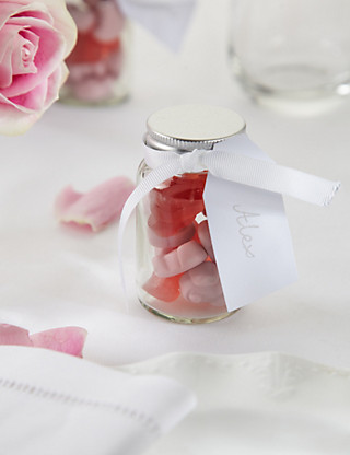 Create Your Own Percy Piglets™ Wedding Favours with White Ribbons - Pack of 25 Hampers