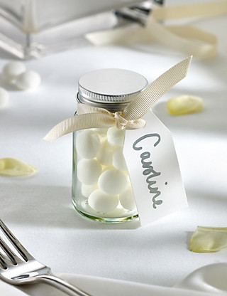 Mint Imperials Wedding Favours with Cream Ribbon - Pack of 25 Hampers