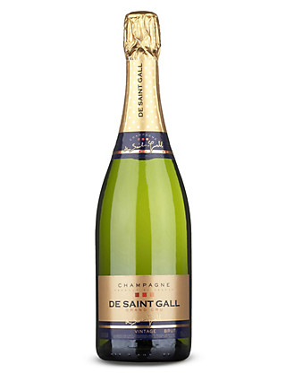 De Saint Gall Grand Cru Brut Vintage Champagne - Case of 6 Wine