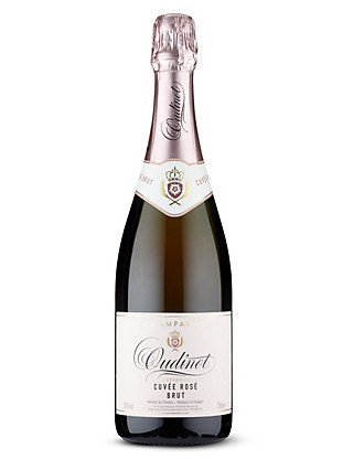 Oudinot Rosé Brut NV Champagne - Case of 6 Wine