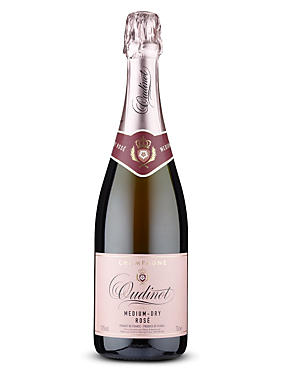 Oudinot Rosé Medium Dry NV Champagne - Case of 6