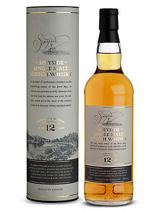 Speyside Single Malt Scotch Whisky - 12 Years Old - Single Bottle Wine