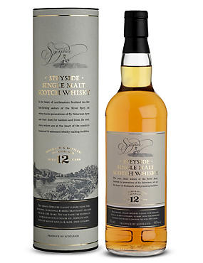 Speyside Single Malt Scotch Whisky - 12 Years Old - Single Bottle