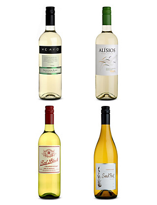 New World Whites Mixed Dozen - Case of 12 Wine