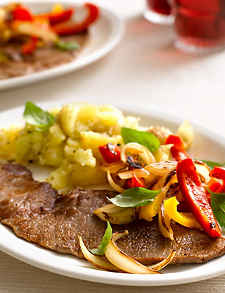 British Rose Veal Escalopes Food
