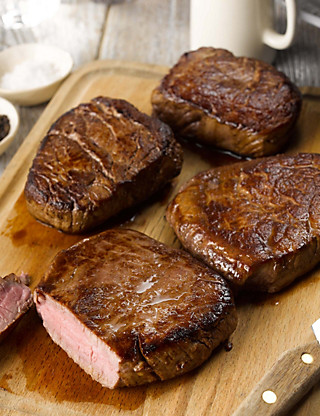 4 Aberdeen Angus Fillet Steaks Food