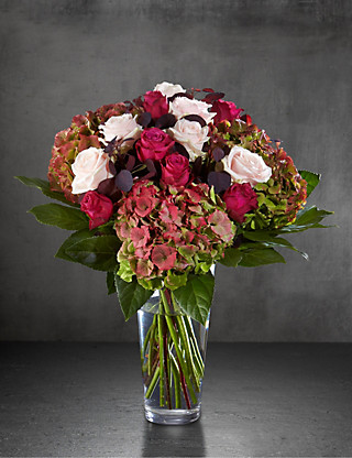 Autograph™ Autumn Rose & Hydrangea Bouquet Flowers