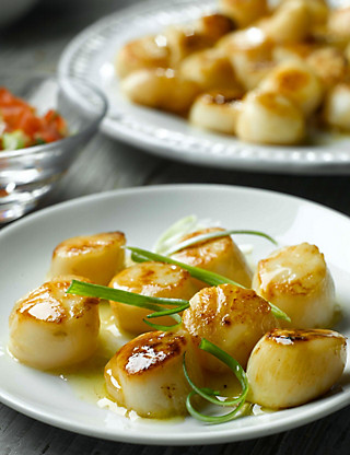 Wild Atlantic Raw Scallops Food