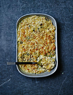 Macaroni Cheese with Leeks