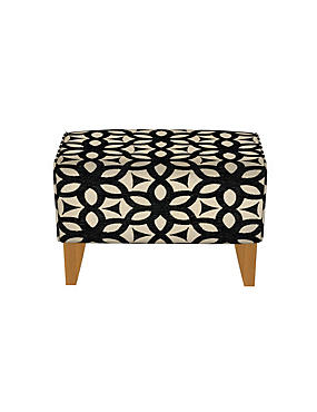 Cabot Footstool Feiva Charcoal - Self Assembly