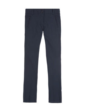 Girls' Crease Resistant Zip Pocket Trousers with Adjustable Waist & Hem & Triple Action Stormwear™