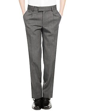 Boys' Wool Blend Pleat Front Supercrease™ Trousers